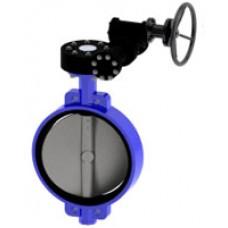 Межфланцевый дисковый поворотный затвор Tecofi VPE4448-08 Ру16 – корпус и диск: ковкий чугун – с механическим редуктором DN 350-1200