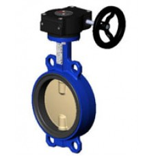 Межфланцевый дисковый поворотный затвор Tecofi VPI4442-08 PN 10/16 корпус из чугуна – диск из диск из сплава алюминия с бронзой – с механическим редуктором DN 40-300