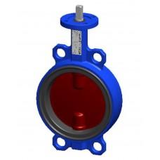Межфланцевый дисковый поворотный затвор Tecofi VPI4448-00 PN 10/16 корпус и диск из ковкого чугуна – с голой осью DN 40-300