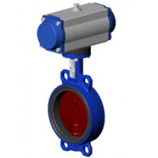 Межфланцевый дисковый поворотный затвор Tecofi VPI4448-N03 PN 10/16 корпус и диск из ковкого чугуна – с пневмоприводом двухстороннего действия DN 40-300