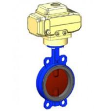 Межфланцевый дисковый поворотный затвор Tecofi VPI4448-NX4 PN 10/16 корпус и диск из ковкого чугуна – с электроприводом DN 40-300