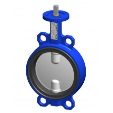Межфланцевый дисковый поворотный затвор Tecofi VPI4449-00 PN 10/16 корпус ковкий чугун – диск из нержавеющей стали 316 – с голой осью DN 40-300