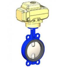 Межфланцевый дисковый поворотный затвор Tecofi VPI4449-NX4 PN 10/16 корпус ковкий чугун – диск из нержавеющей стали 316 – с электроприводом DN 40-300