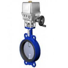 Межфланцевый дисковый поворотный затвор Tecofi VPI4449-UX4_DN40-80 PN 10/16 корпус ковкий чугун – диск из нержавеющей стали 316 – с электроприводом Auma