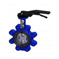 Межфланцевый дисковый поворотный затвор Tecofi VPI464916-02 PN16 – корпус ковкий чугун – диск из нержавеющей стали 316 – с ручкой DN 40-300